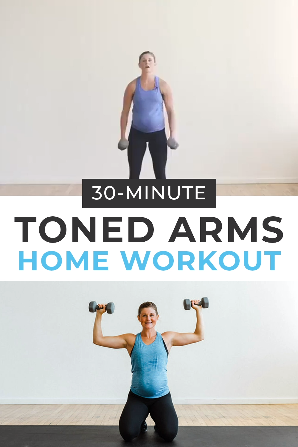 Get strong, toned arms at home with this DUMBBELL ARM WORKOUT! Follow along with the guided video as Lindsey coaches you through the best arm exercises with dumbbells!