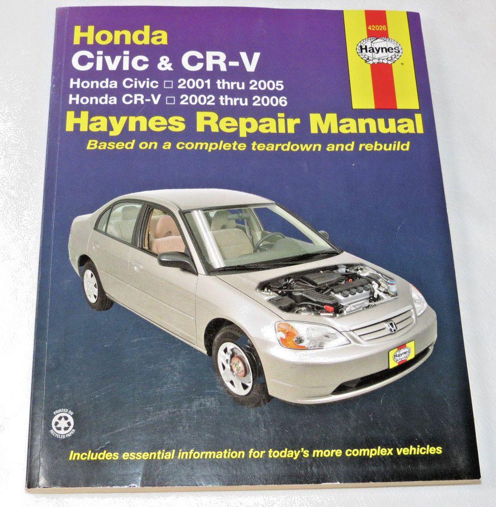 haynes repair manual honda civic cr v civic 2001 2005 honda cr v rh pinterest co uk 2005 honda crv service manual fuel system 2005 honda crv factory service manual