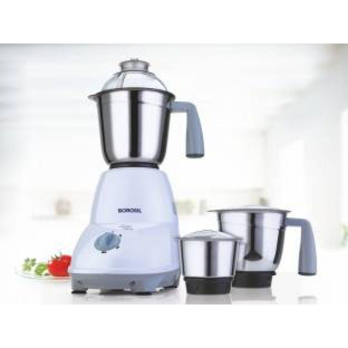 Borosil super 550 w mixer grinderwhite grey 3 jars