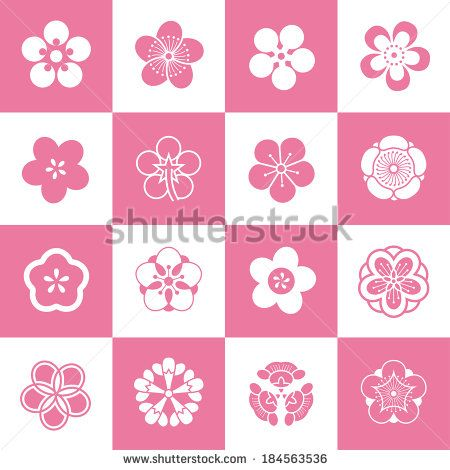 Petal patterns of plum blossom(Because of the shape is similar (5 petals),they can also be used as peach petals and cherry blossom petals)