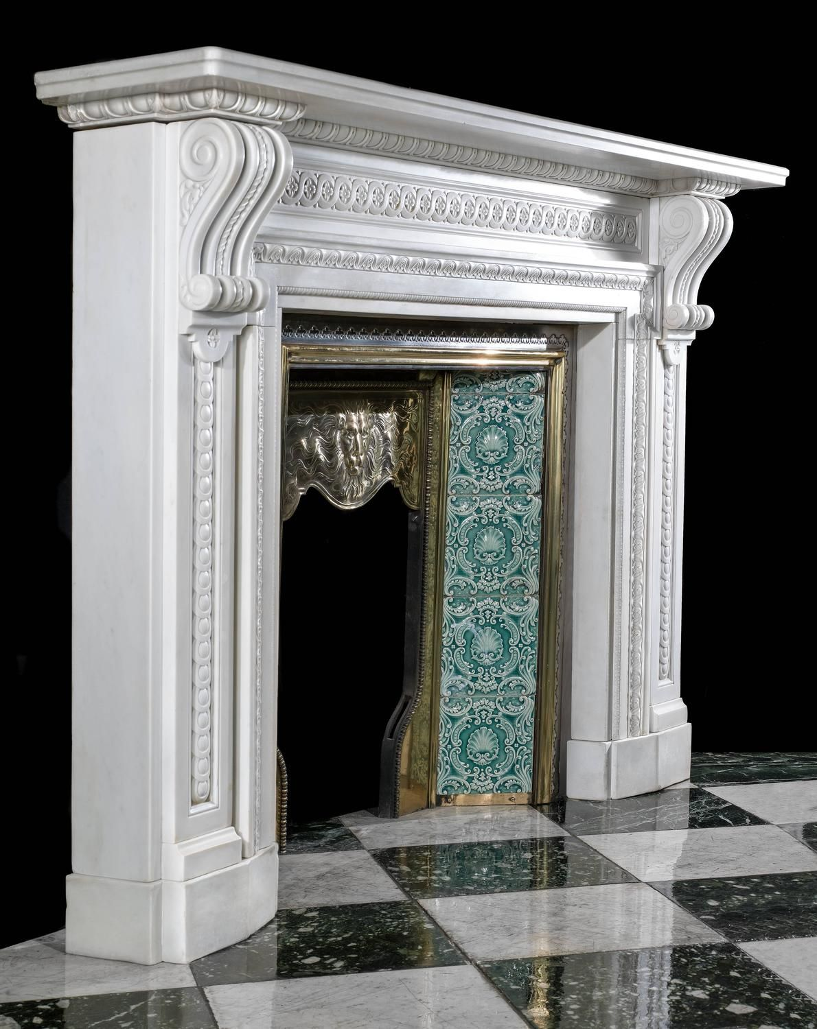 ... carved architrave around. Victorian White Marble Antique Fireplace  Surround   From a unique collection of antique and modern fireplaces cb4612f69c