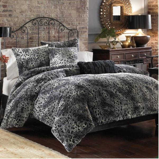 Lynx Faux Fur Duvet Cover Set Thanks To Kelsey Erin I Need This Now Luxury Bed Sheets White Bed Frame Bedding Sets