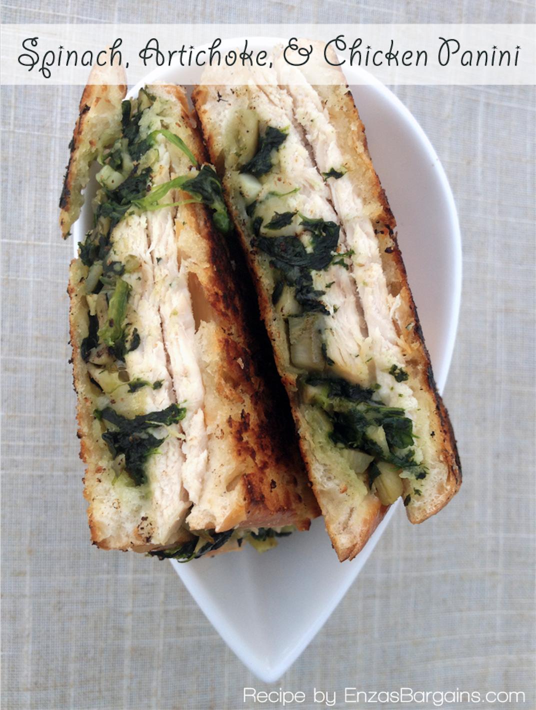 Spinach, Artichoke, & Chicken Panini Recipe Panini