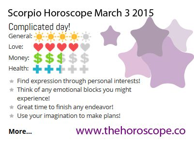 Complicated day for #Scorpio on March 3rd #horoscope ... http://www.thehoroscope.co/daily-horoscope/scorpio-sign-Scorpio-Daily-Horoscope-March-3-2015-7352.html
