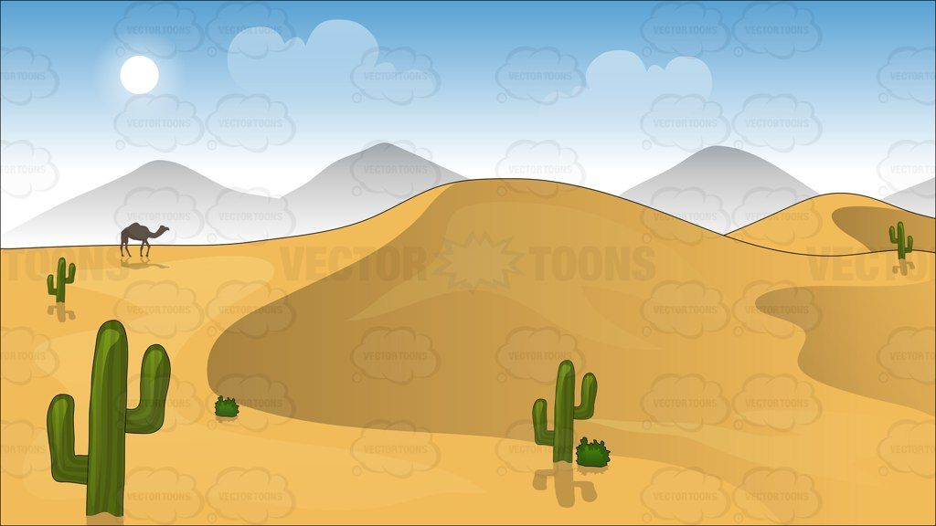 Sand Dunes In The Desert Background   Dune and Mountain ...