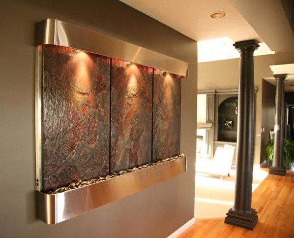 modern indoor waterfall fountain