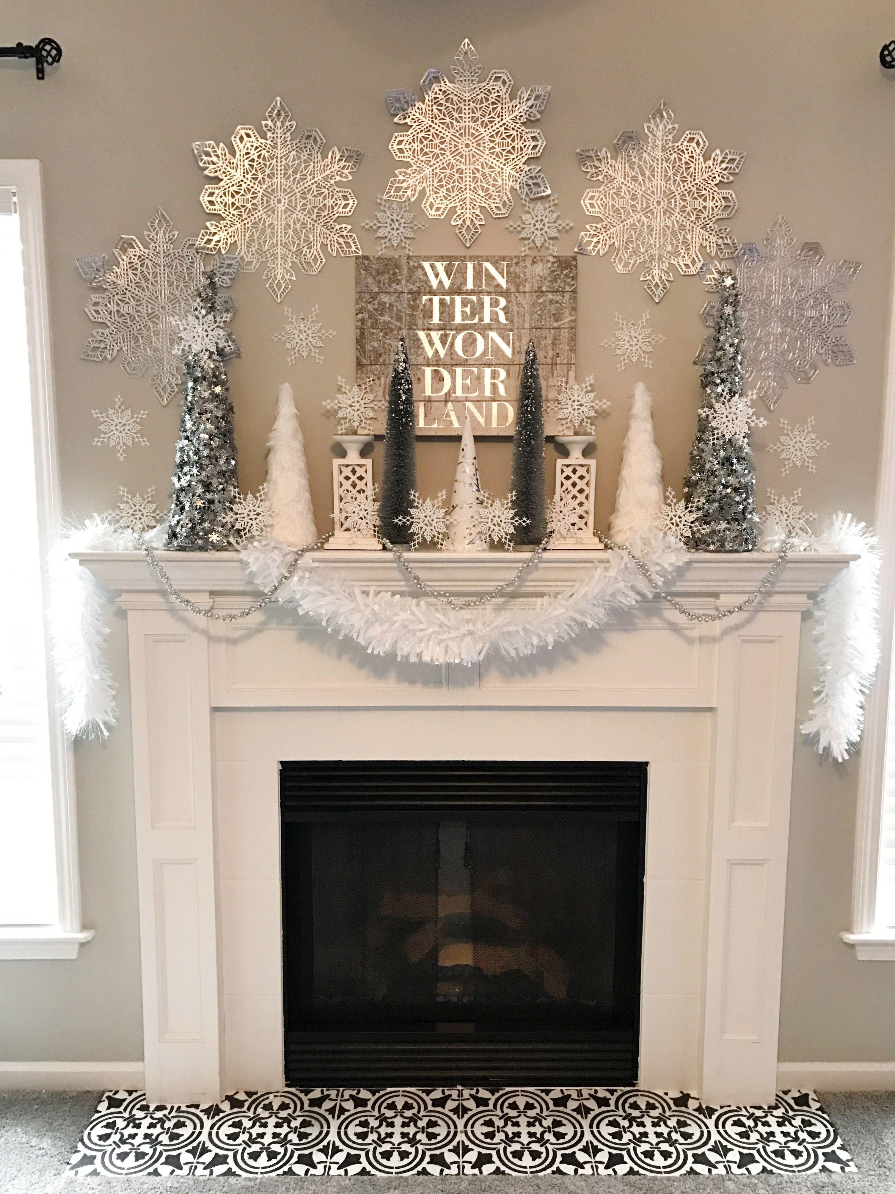 Winter Wonderland Holiday Mantel Ellery Designs Christmas Mantle Decor Christmas Mantel Decorations Holiday Mantel