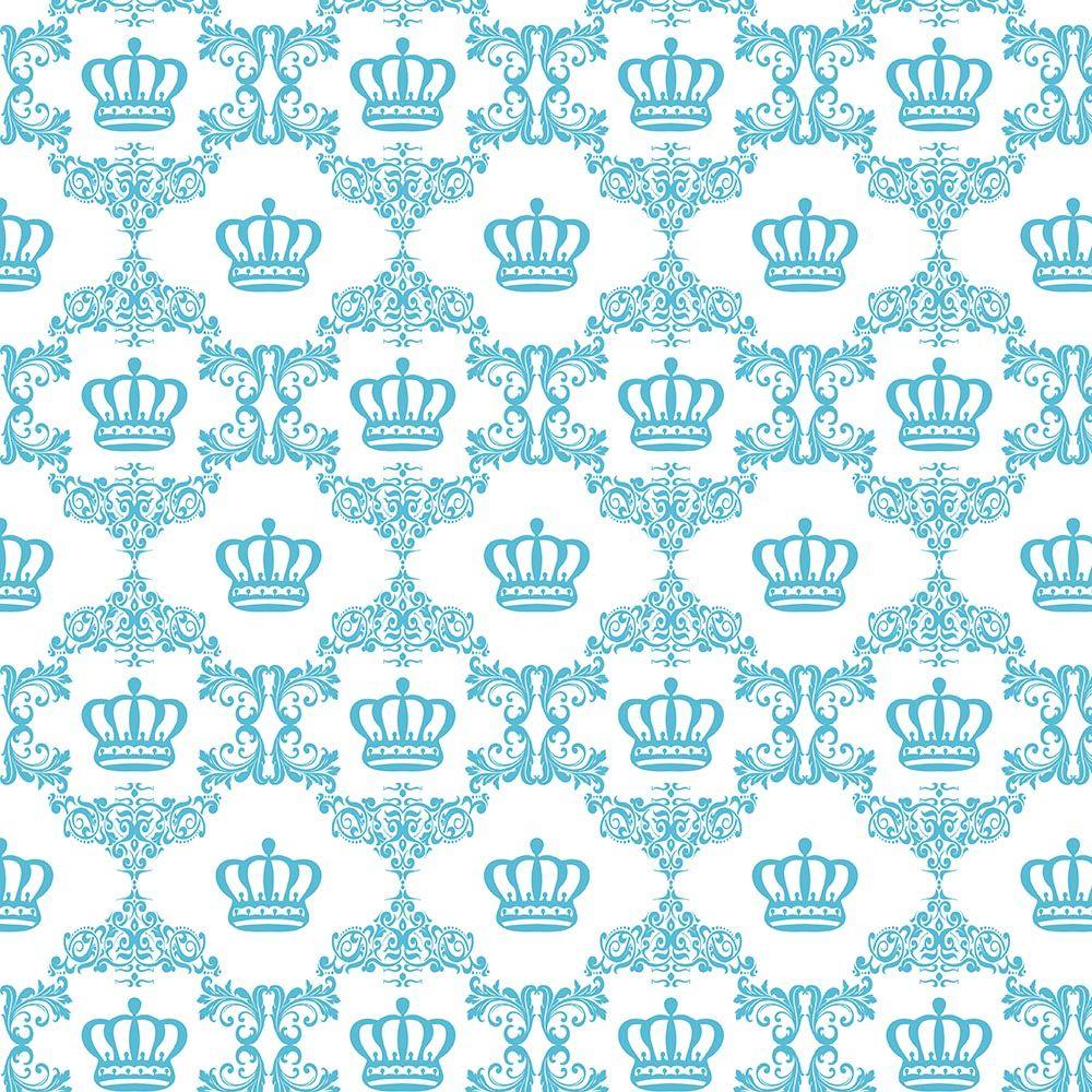 81994244a Papel de Parede Arabesco com Coroas em Tons de Rosa