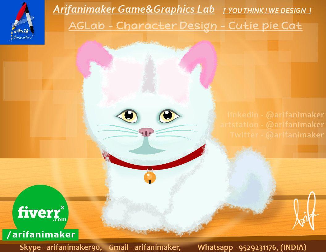 2d Character Design Cutiepie Kitten Cat Aglab Mohammad Arif Gm On Artstation At Https Www Artstation Com Artwork K Character Design 2d Character Character