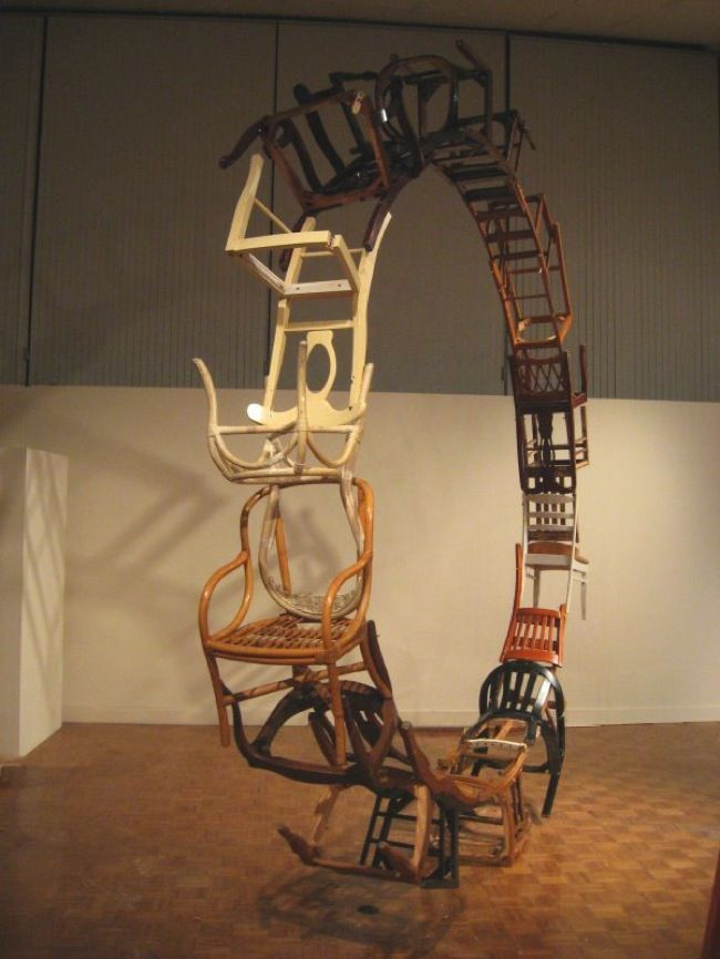 Installations By Marc Andre Robinson Art Chair Recycled Art Art Pieces