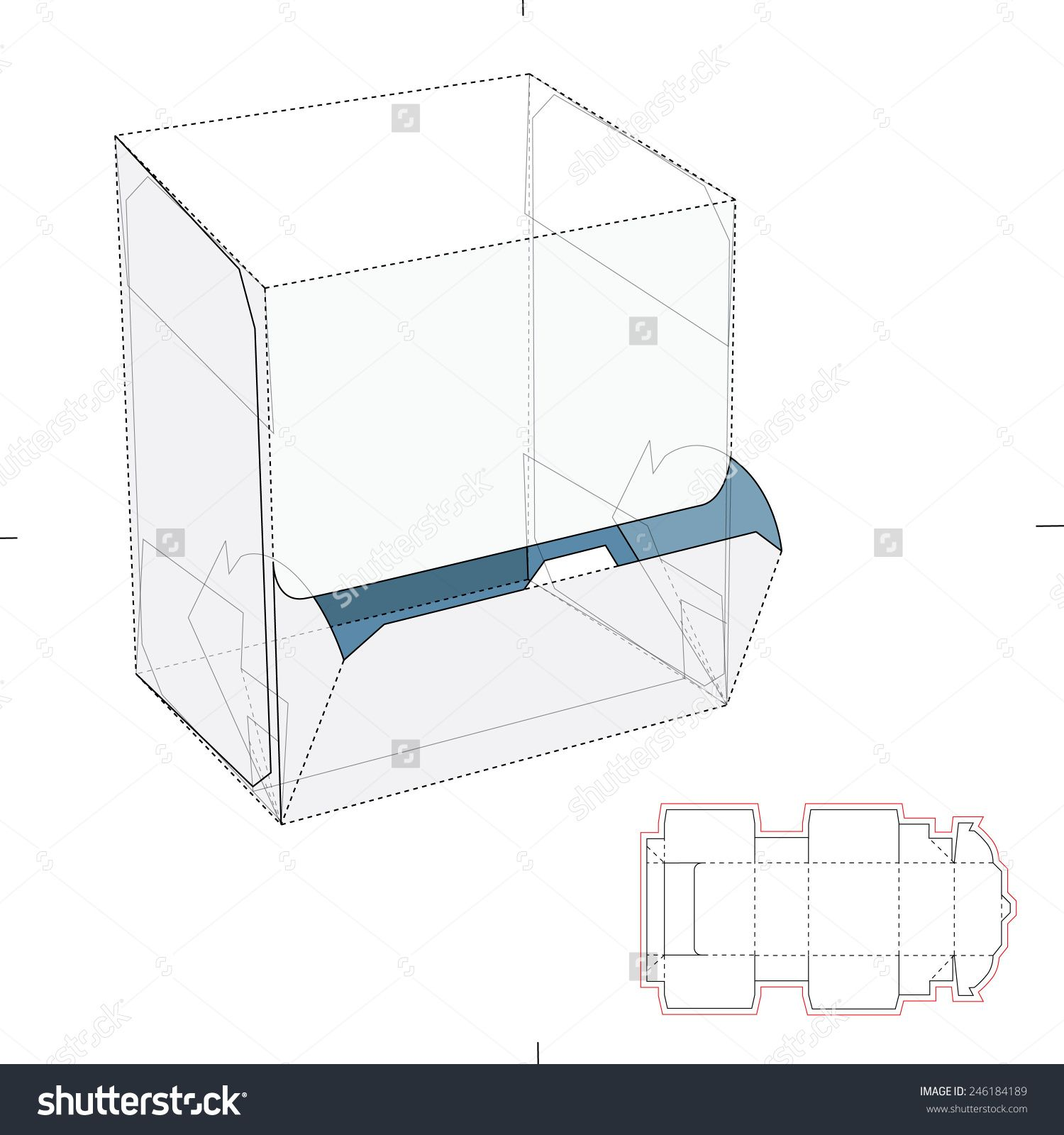 Resealable Dispenser Box with Die Cut Template | crafts ... - photo#46