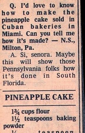 Cuban Bakery-Style Pineapple Cake with Pineapple F