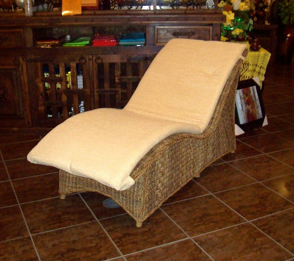 Bali banana leaf chaise lounge