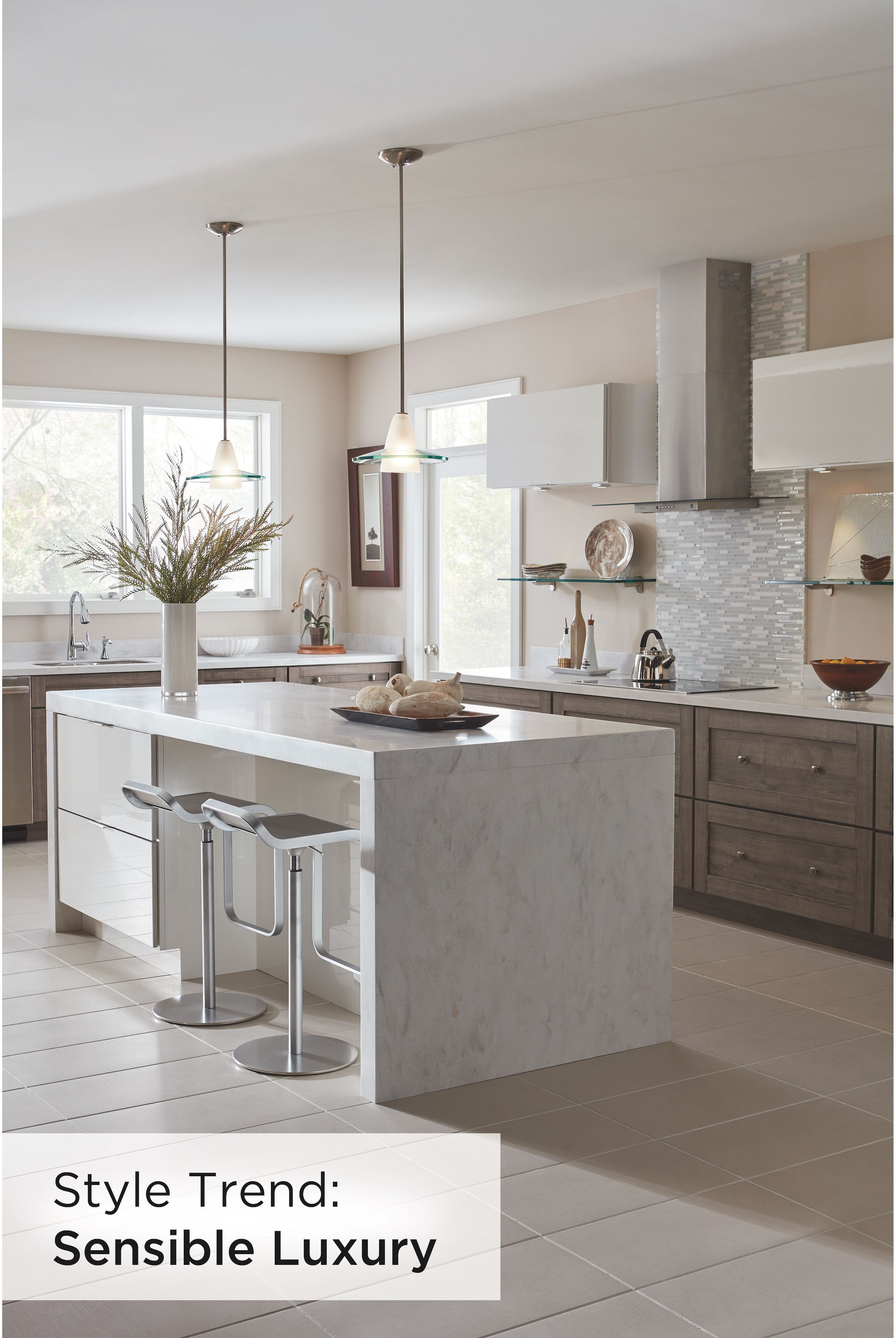 Diamond S White High Gloss Laminate Paired With Elk Purestyle Cabinetry Adds Text Contemporary Kitchen Modern Kitchen Cabinet Design Beautiful Kitchen Cabinets