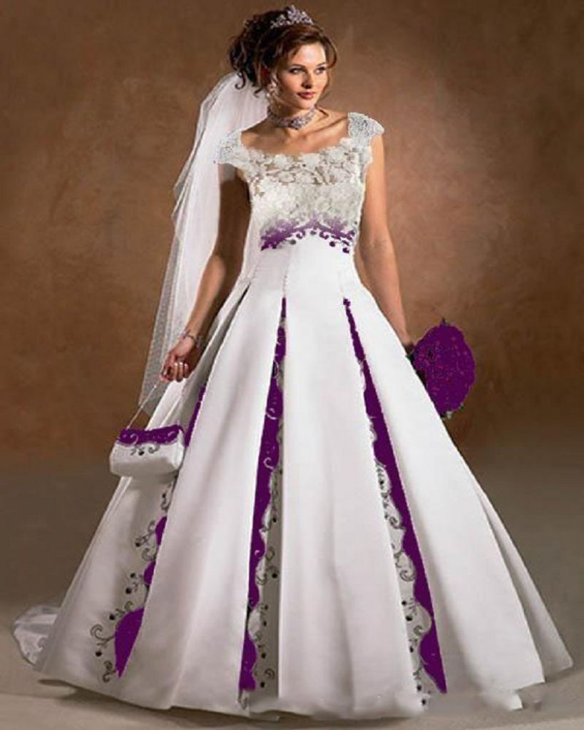 Purple Wedding Dresses With Sleeves Dresses For Wedding Reception White Lace Wedding Dress Sheer Wedding Dress White Wedding Dresses [ 1024 x 819 Pixel ]