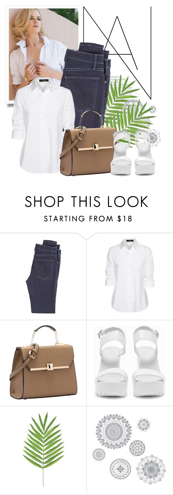 """Untitled #8949"" by queenrachietemplateaddict ❤ liked on Polyvore featuring McGuire Denim, Steffen Schraut, Nly Shoes and WallPops"
