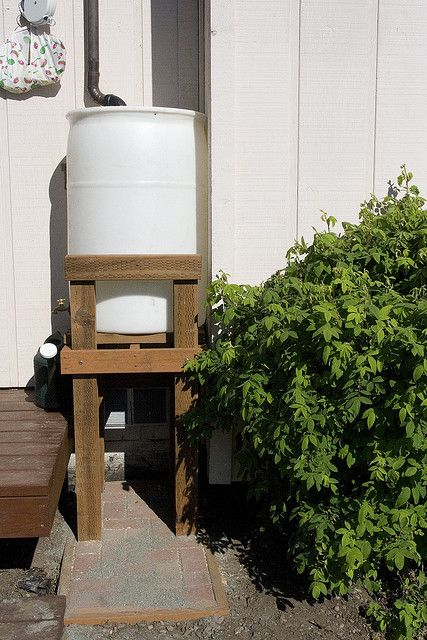 Diy Rain Barrel Want To Make It Higher And Use As Outdoor Shower