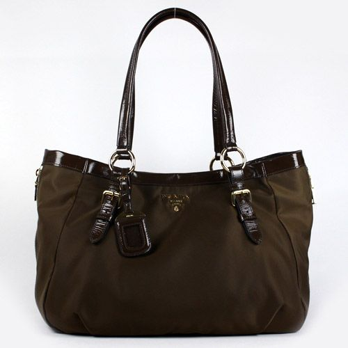 14cc75520341 prada tessuto vernice handbag br4098 - brown fashion [6bag9253] - $298.80 :  #Prada #Handbags #Outlet