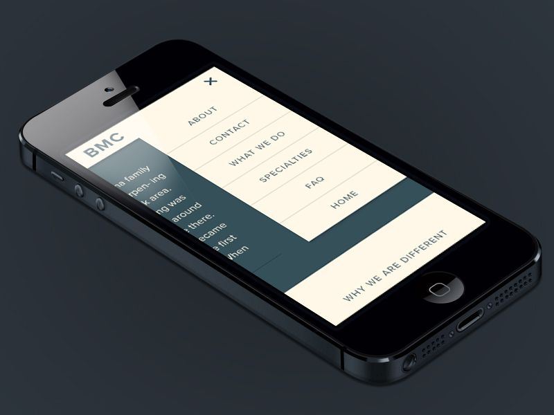 Mobile Menu by Anthony Sampogna