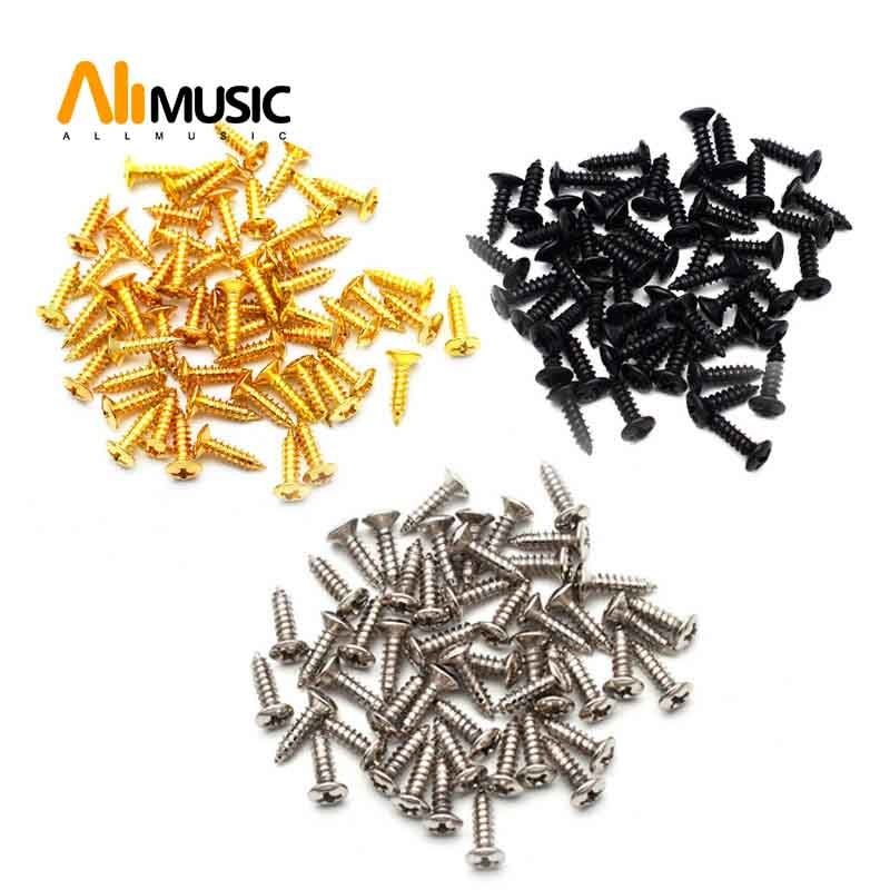 50PCS 3mm Electric Guitar Bass Pickguard Screws Pick Guards Scratch Plate Mounting Screws for Fender ST Tele TL Gibson Guitar #gibsonguitars