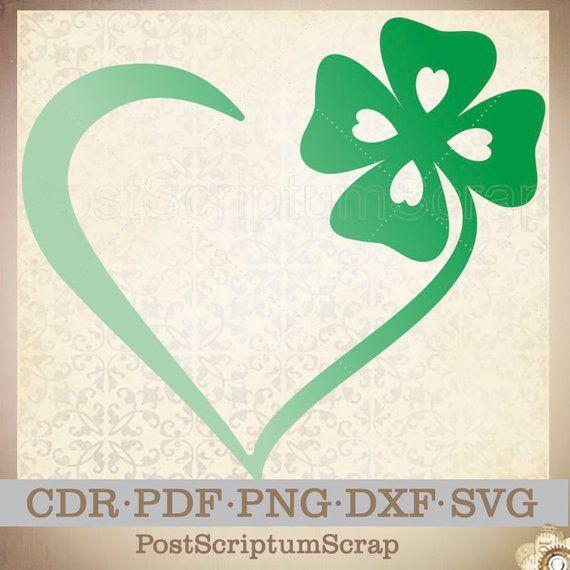 b59f1a665 Irish heart St Patricks day four leaf clover svg gift Love Irish art st  pattys day irish gifts st pa