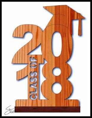 Class Of 2018 Scroll Saw Pattern Graduation Scroll Saw