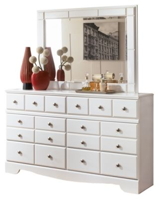 Weeki Dresser And Mirror By Ashley Homestore White Shabby Chic
