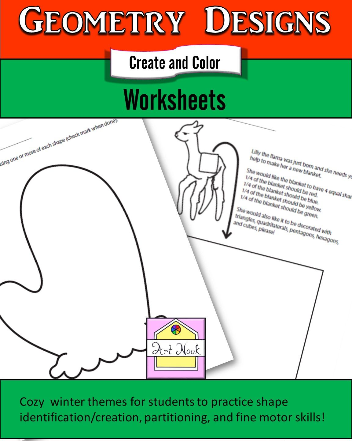 Winter Geometry Coloring Sheets