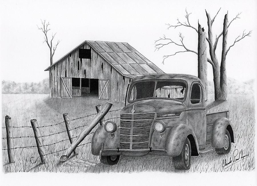 cabin old car drawing - Google Search | Old Tractors/Trucks ...