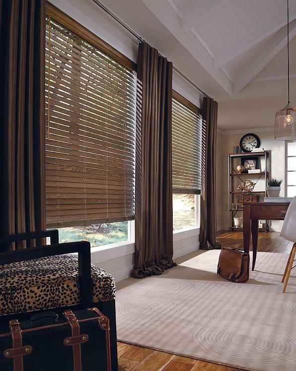 Persiana de madeira luxaflex hunter douglas cortinas for Cortinas de persiana