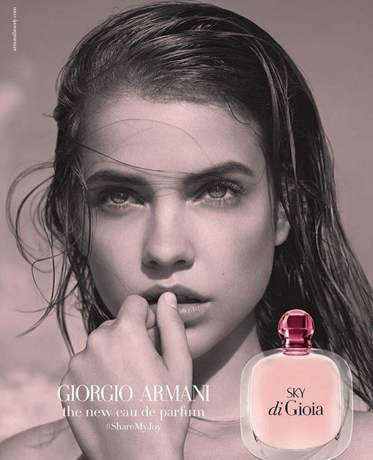 f41c3f9767d Barbara Palvin Stuns in Giorgio Armani  Acqua di Sky  Fragrance ...