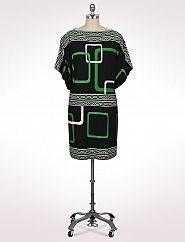 Geometric Dropwaist Dress