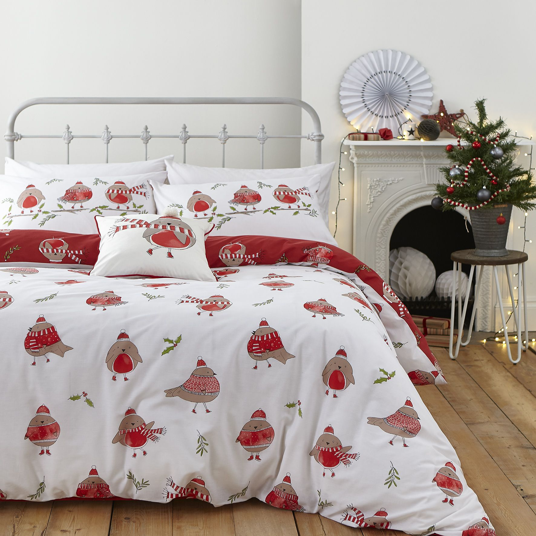 Catherine Lansfield Christmas Bedding Catherine Lansfield Robins Bedding Christmas Collection