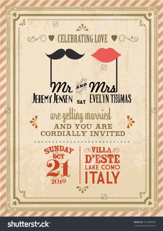 Stunning Vintage Wedding Invitations Vintage Wedding Invitation Templates Theruntime Di 2020