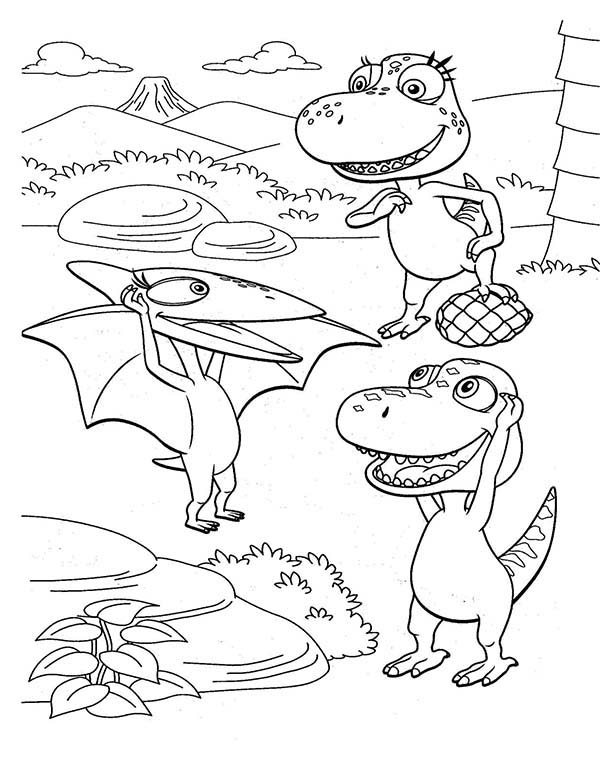 Tiny Introduce Herself To Buddy And His Friend In Dinosaurus Train Coloring Page Coloring Sun In 2020 Coloring Pages Dinosaur Coloring Pages Train Coloring Pages