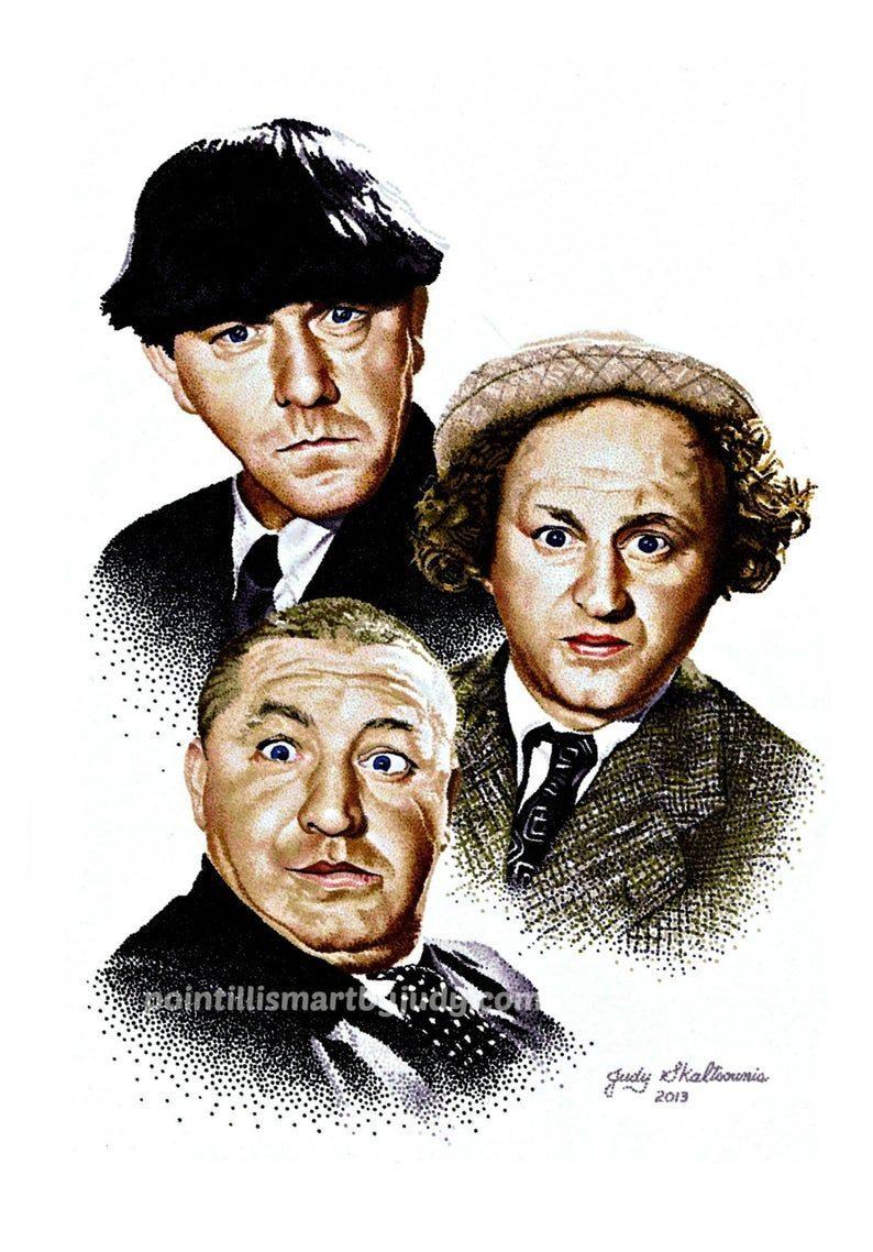 Three Stooges art print | Etsy