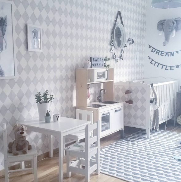 Habitaci n infantil en tonos pastel original y moderna for Habitacion infantil original