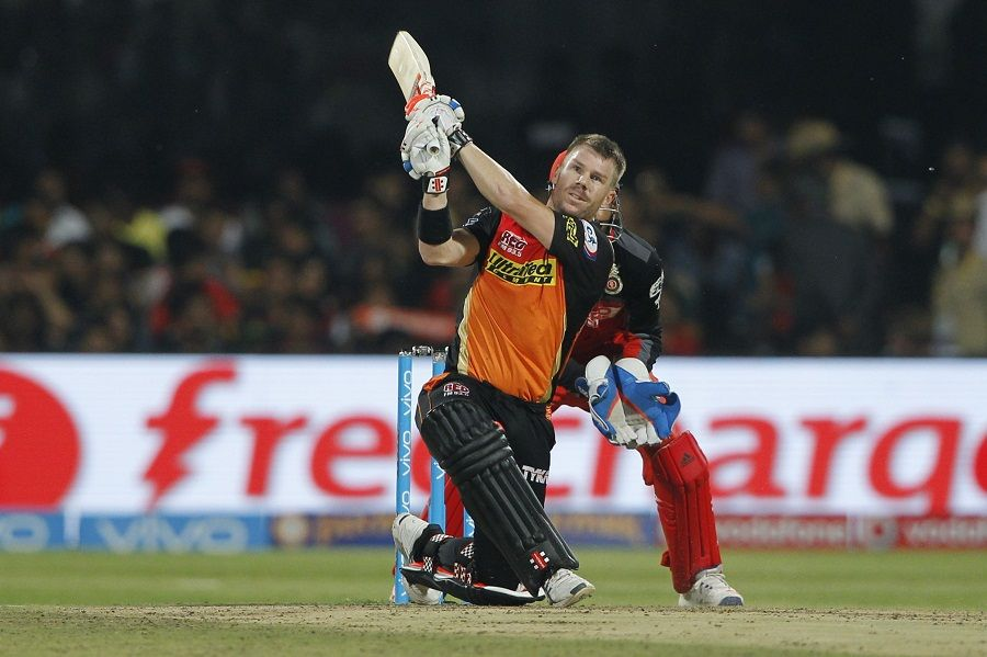 David Warner targets the leg-side boundary, Royal Challengers ...