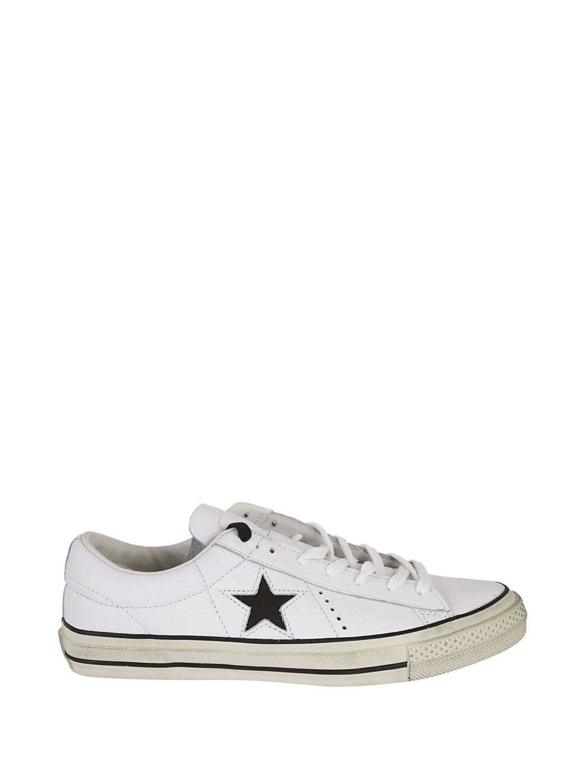 2f9a9ecb1688 ... Black White Image 1  CONVERSE ONE STAR OX DISTRESSED SNEAKERS. converse  shoes ...