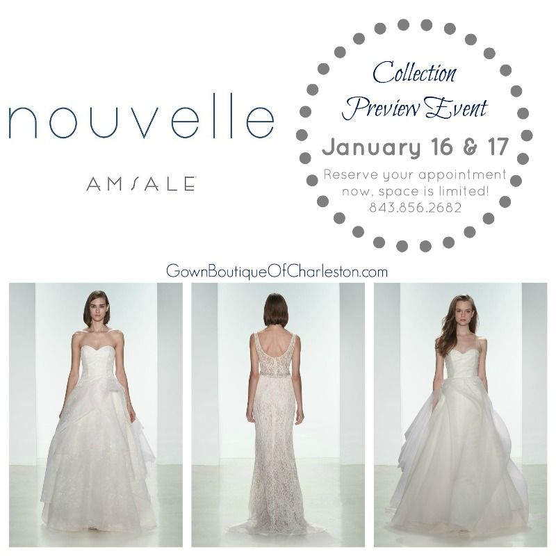 We are thrilled to be hosting this fabulous event THIS weekend! Call to make an appointment. @amsale #AmsaleNouvelle