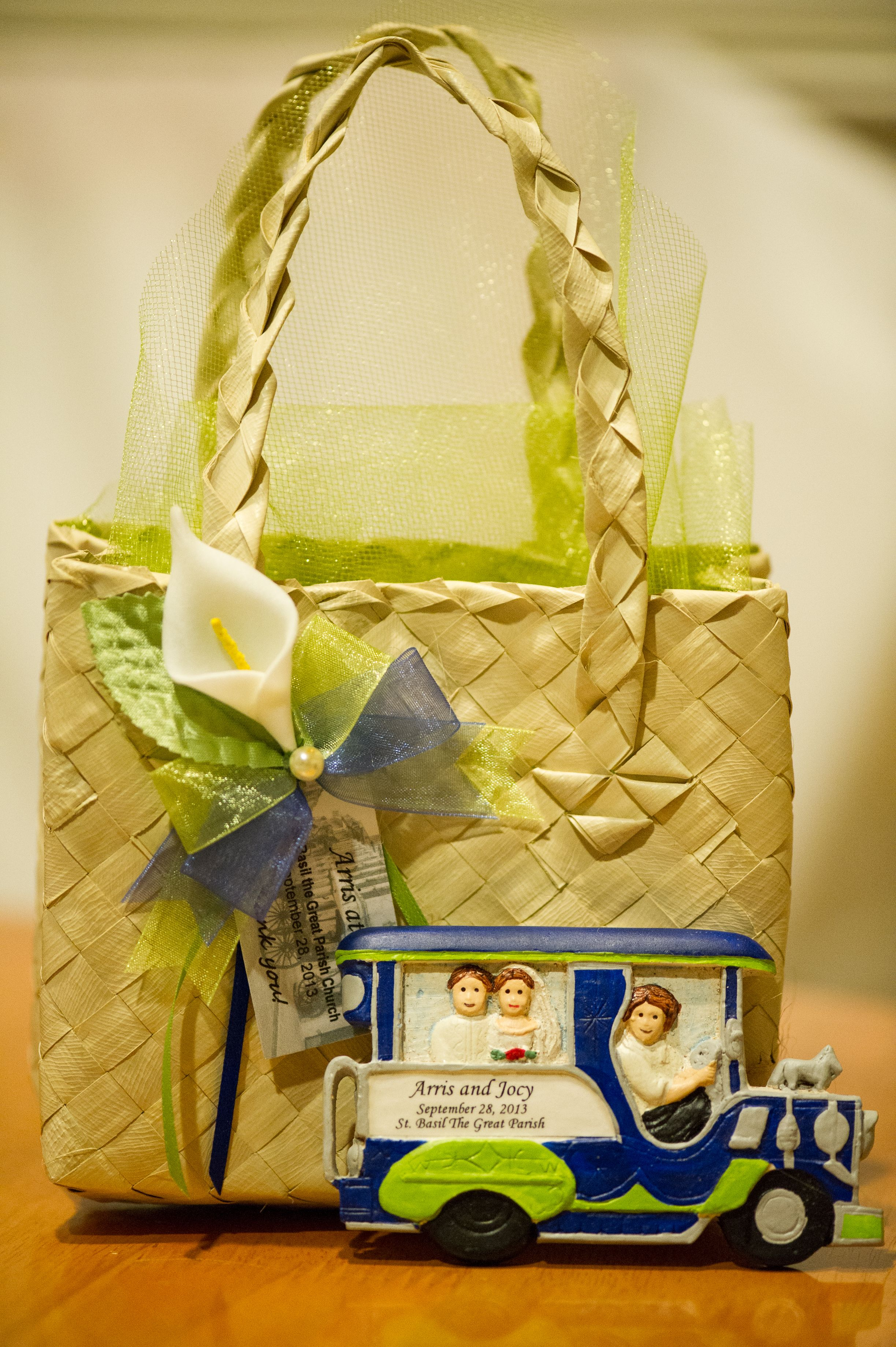 Our Filipiniana Wedding Favor... A Couple Riding In A