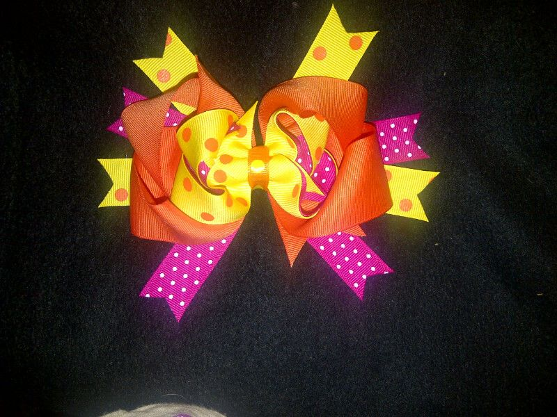 NEW Stacked bows with initials or Cute Centers for only $7.00