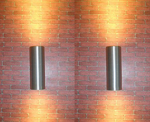 Luminturs tm pack=2 12w led outdoor external wall sconces up down