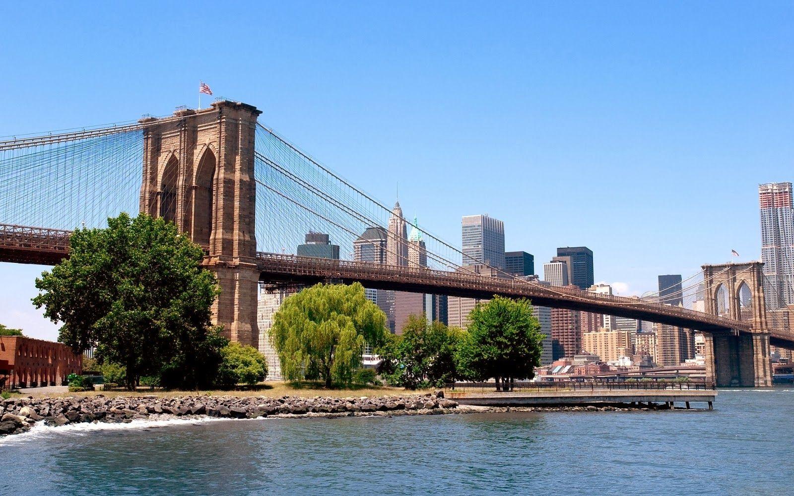 Desktop Hd Wallpapers Free Downloads Beautiful Bridges In Nights Hd Wallpapers New York Travel Guide New York Wallpaper New York Travel