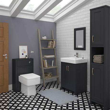 Chatsworth 3 Piece Traditional Graphite Bathroom Suite At Victorian Plumbing Uk Bathroom Furniture Clever Bathroom Storage Traditional Bathroom