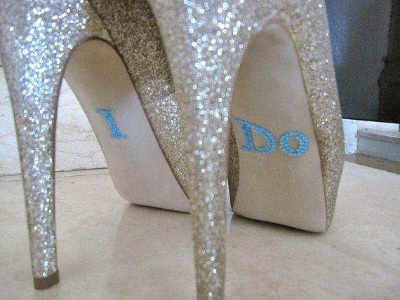 1bb3dd508c52d5 I Do Shoe Sticker. Something Blue
