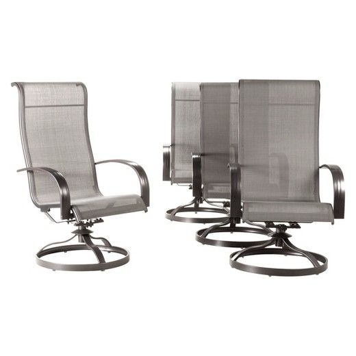 sling swivel rocker patio dining chairs
