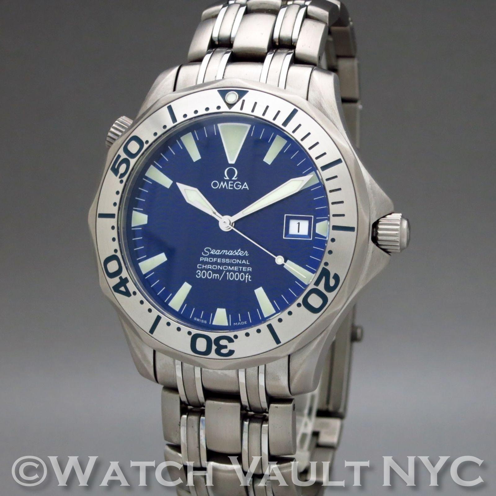 Omega Seamaster Professional 300m Chronometer Electric Blue Omega Seamaster Omega Omega Seamaster Professional