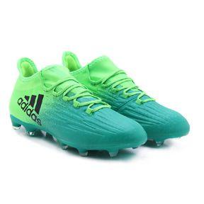 adidas X 16.2 FG Soccer Shoes (Solar Green/Black) @ SoccerEvolution