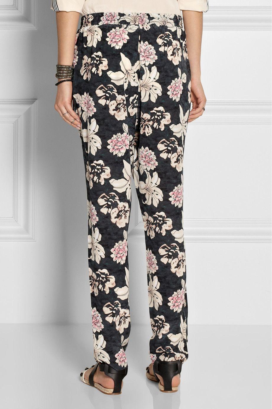 Elizabeth and James|Bruno floral-print silk tapered pants|NET-A-PORTER.COM